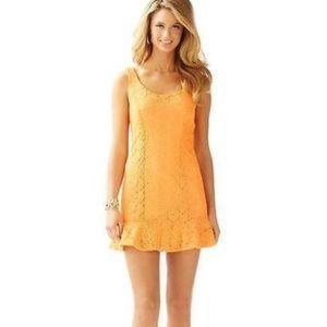 Lilly Pulitzer Sevilla Peachy Keen Lace Dress XS